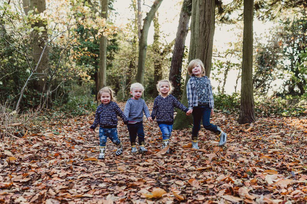 Norfolk Family shoot children holding hands