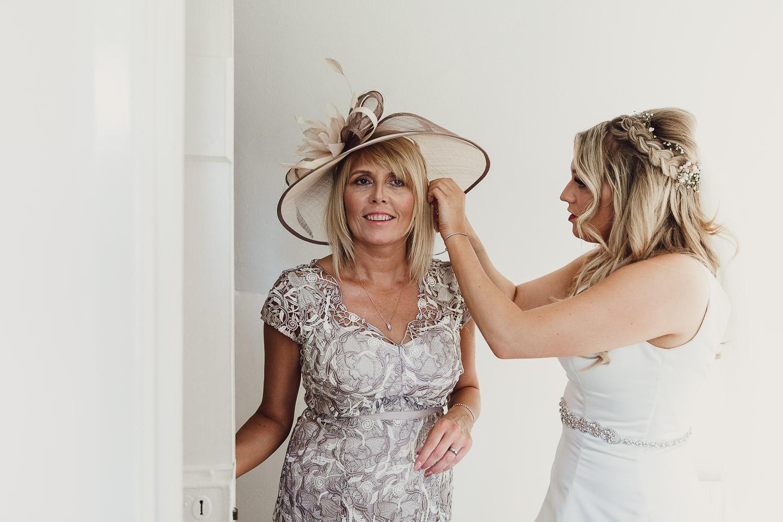 Norfolk norwich  wedding bride helping mum