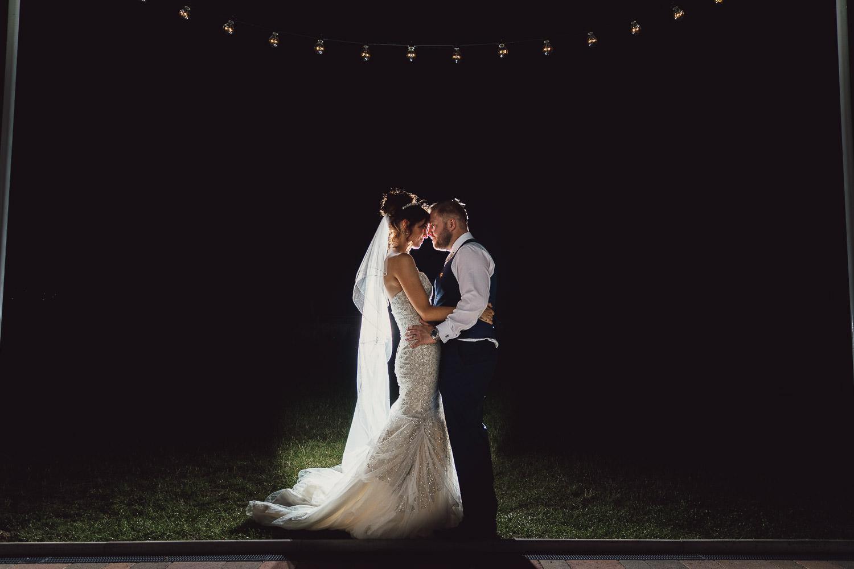 Norfolk norwich  wedding bride and groom nighttime shot