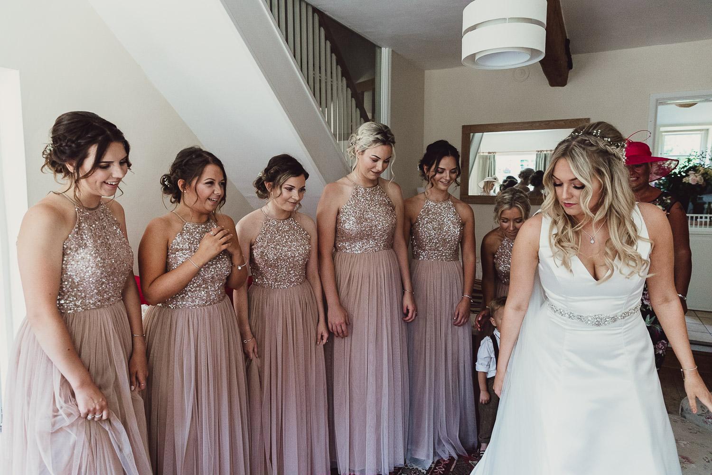 Norfolk norwich  wedding bride reveal to bridesmaids