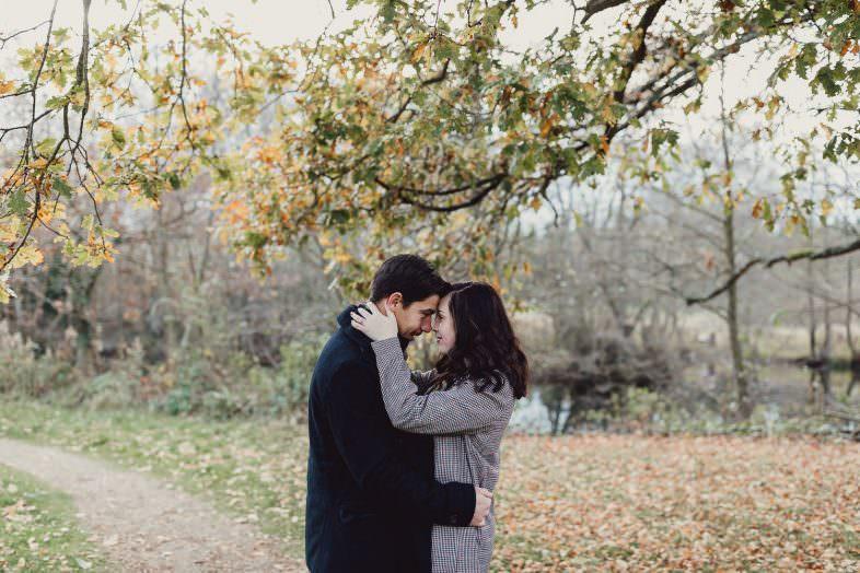 Engagement shoot Norfolk golden hour autumn