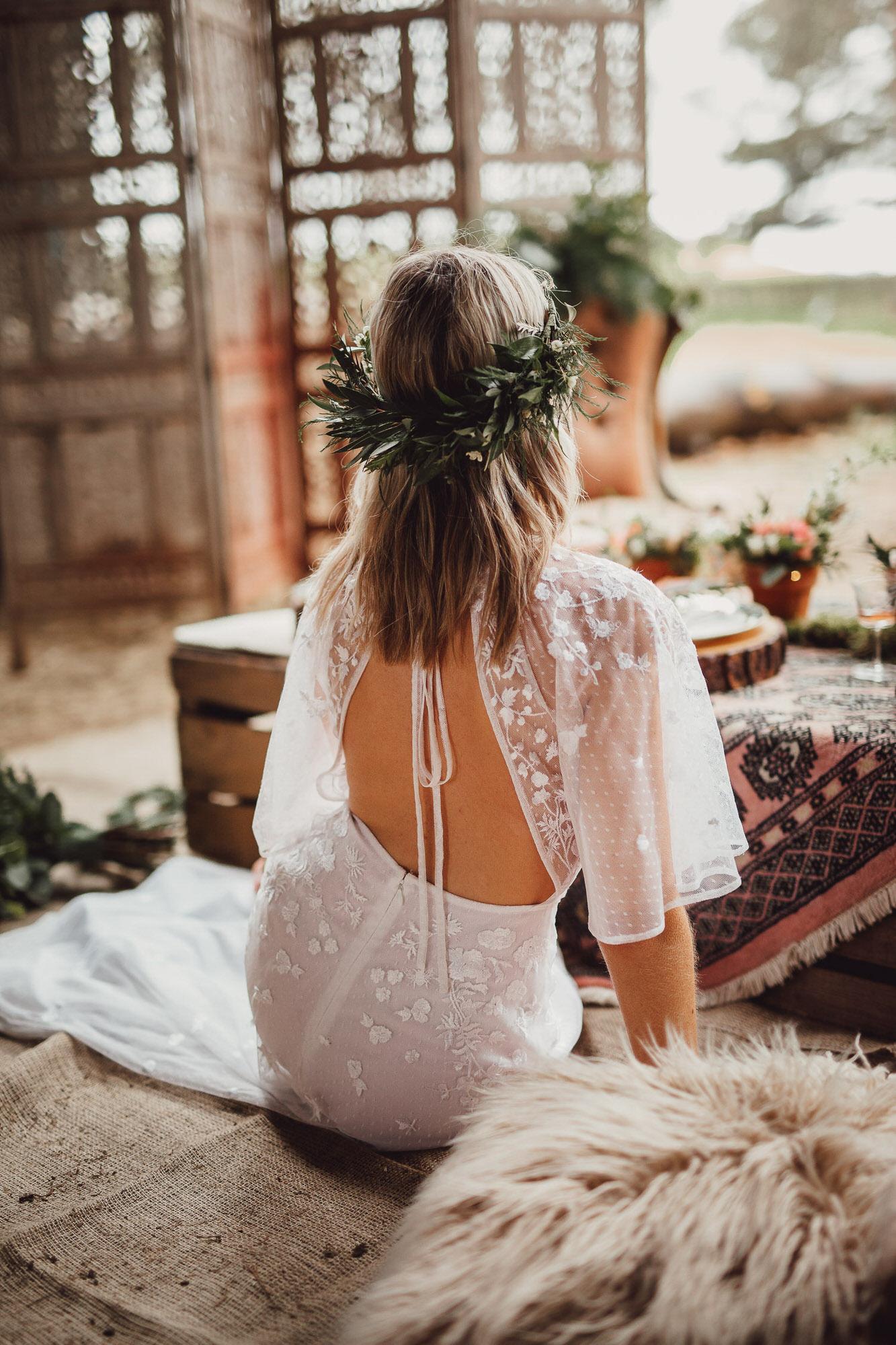 country boho luxe wedding norfolk bride