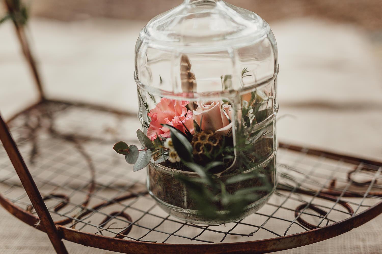 country boho luxe wedding norfolk decor jar