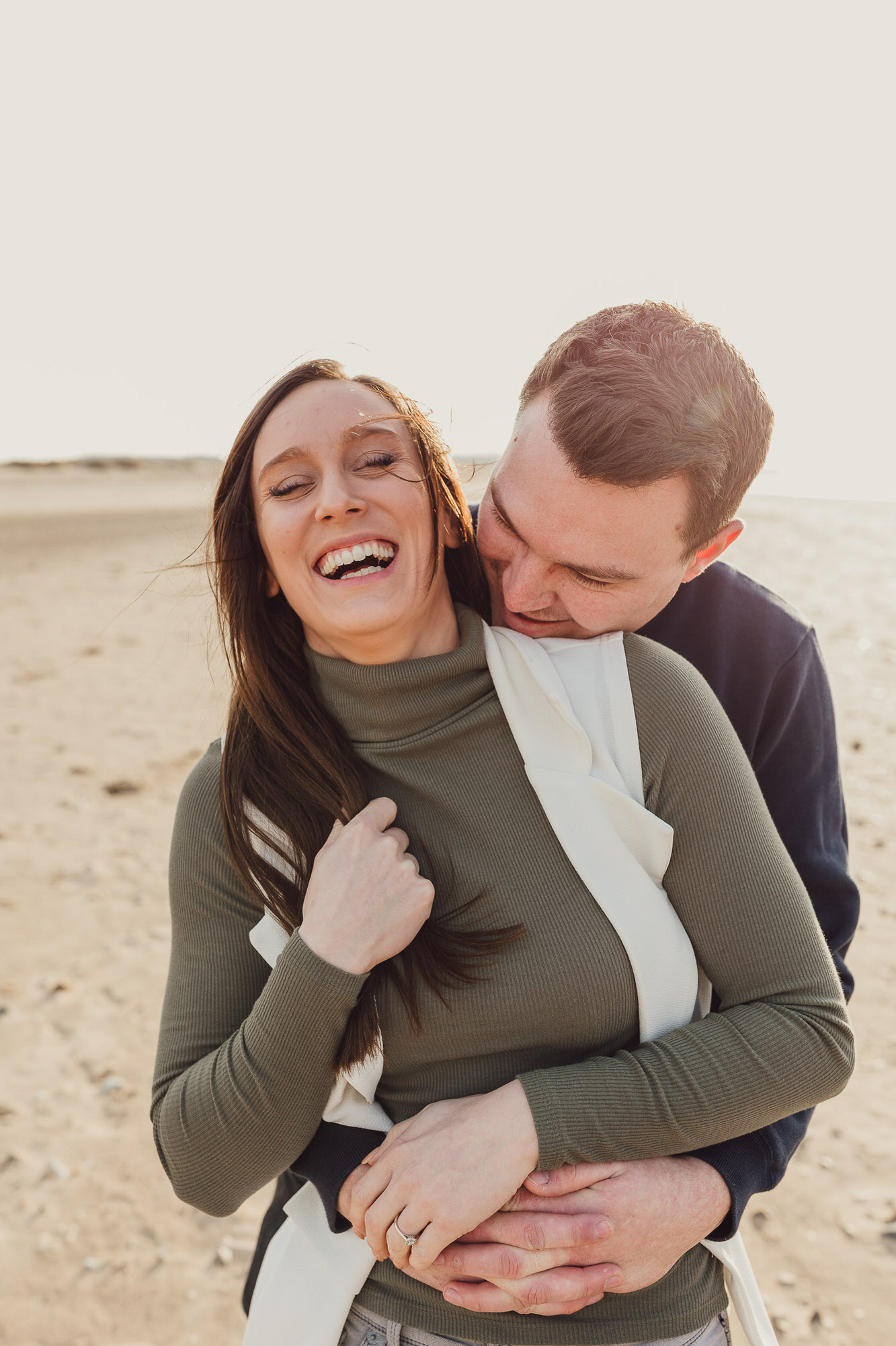 Norfolk Beach coast engagement shoot Holme Next The Sea