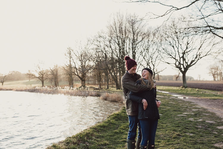 Norfolk woodland and Lake engagement shoot