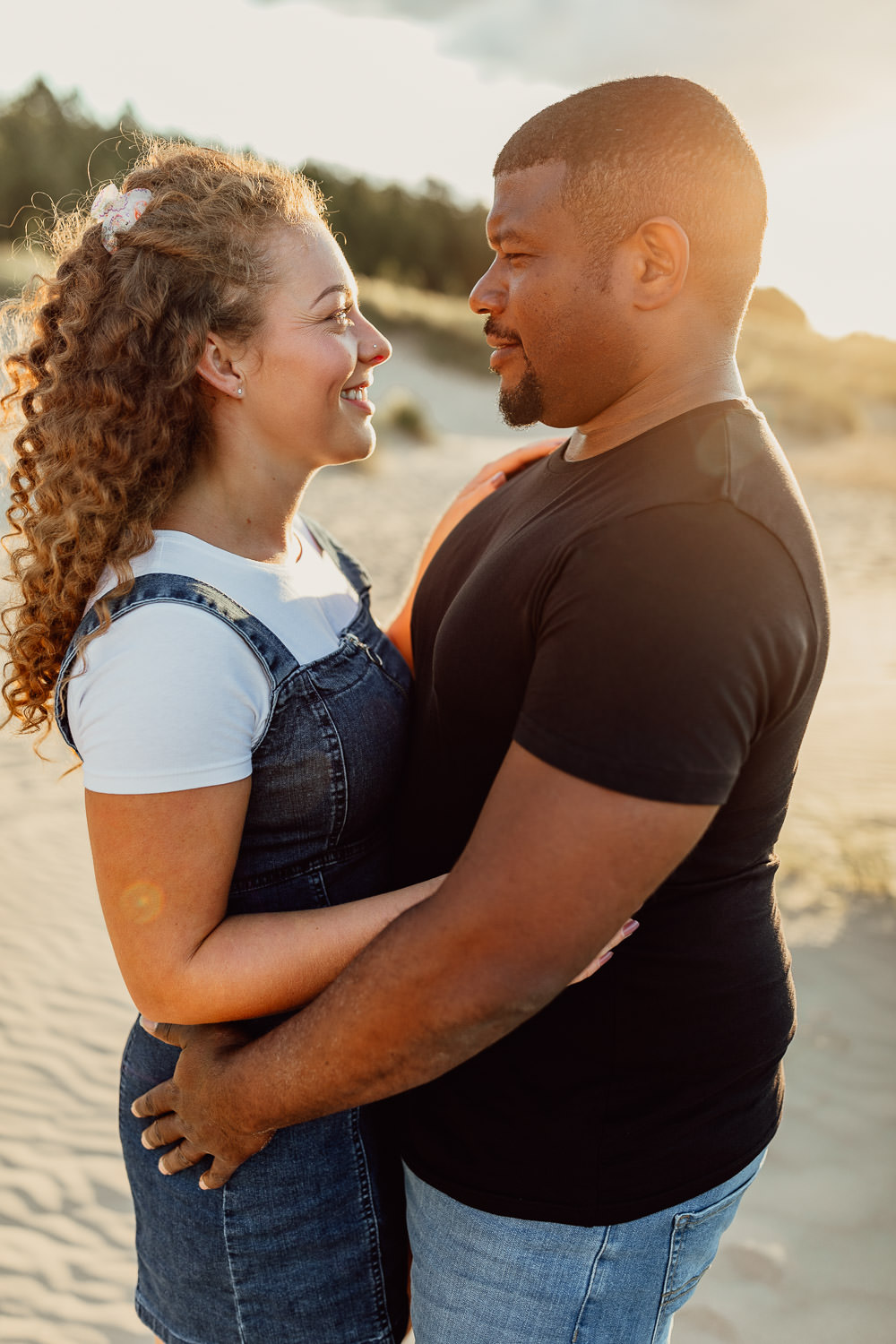 norfolk coast sunset engagement shoot