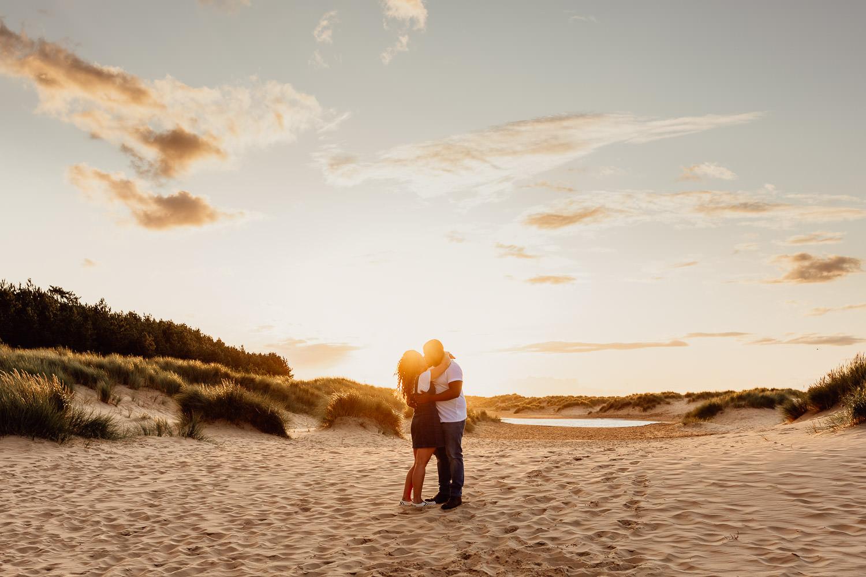 norfolk coast sunset engagement shoot